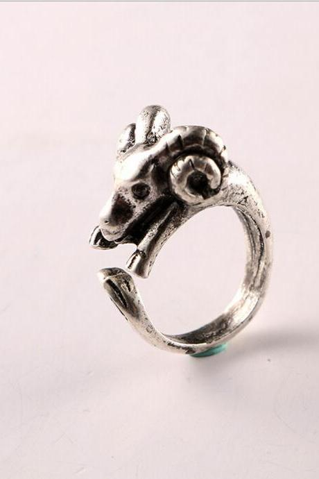 Zodiac animal lamb ring