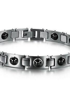 Magnetic health bracelets with titanium steel bracelet GS635