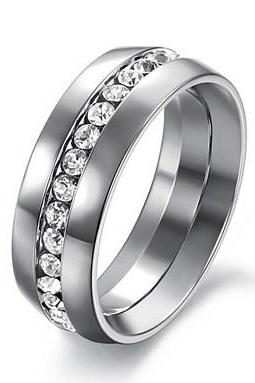 Fashion for men, women titanium steel ring GJ361