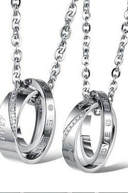 Simple Couples necklace pendant GX879