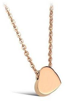 Glossy fashion simple love of titanium steel necklace GX775